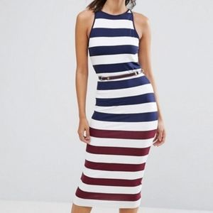 TED BAKER LONDON Yuni Rowing Stripe Dress w Belt